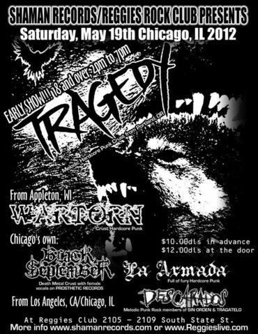 Tragedy-War Torn-Black September-La Armada-Descardos @ Chicago IL, 5-19-12