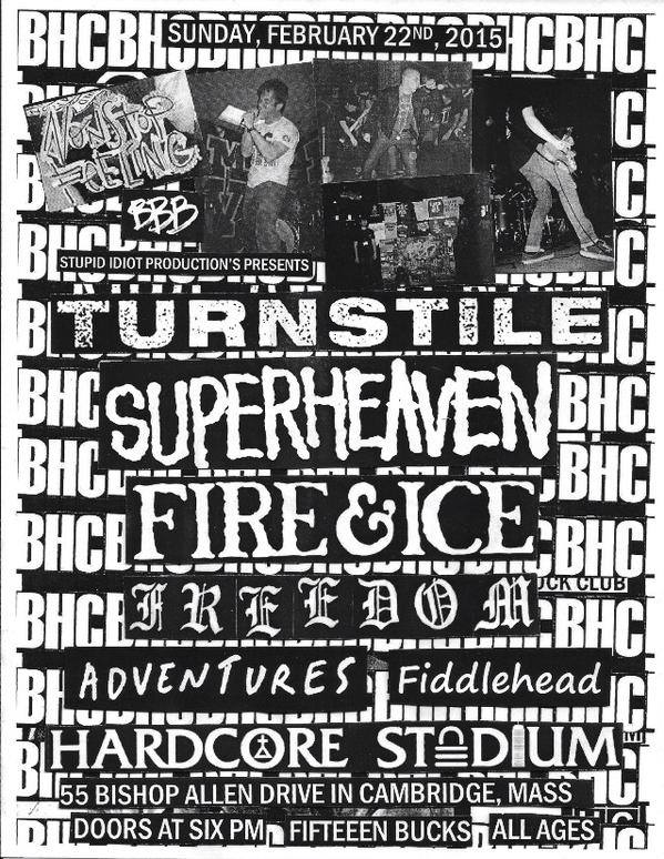 Turnstile-Super Heaven-Fire & Ice-Freedom-Adventures-Fiddlehead @ Cambridge MA 2-22-15