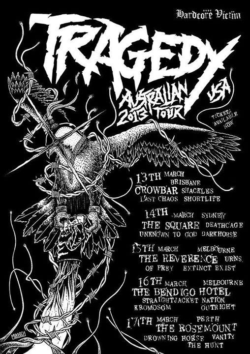 Tragedy Australian Tour 2015