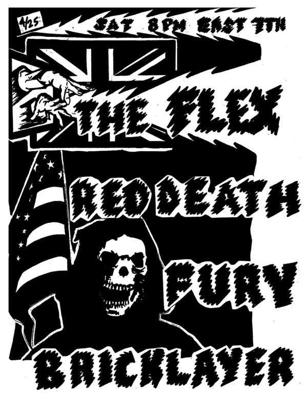 The Flex-Red Death-Fury-Bricklayer @ Los Angeles CA 4-25-15