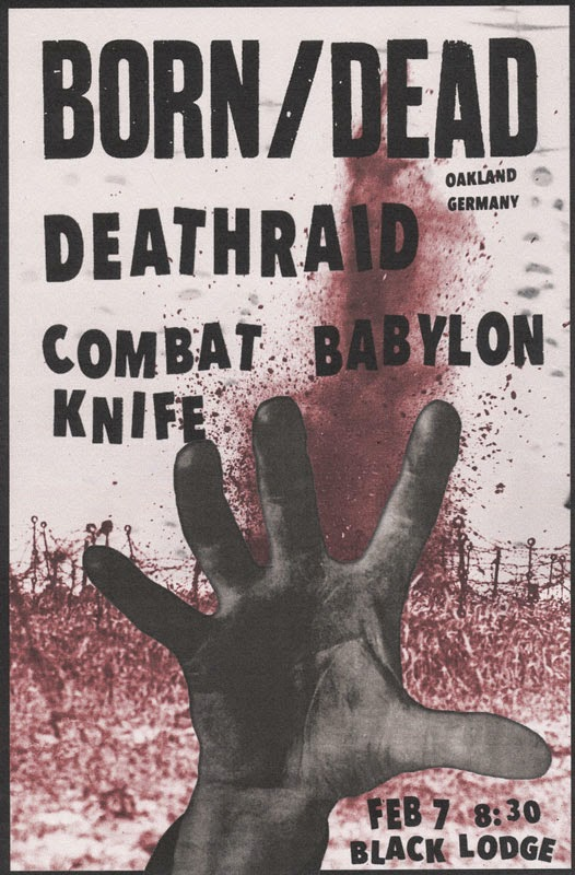 Born Dead-Deathraid-Combat Knife-Babylon @ Seattle WA 2-7-15
