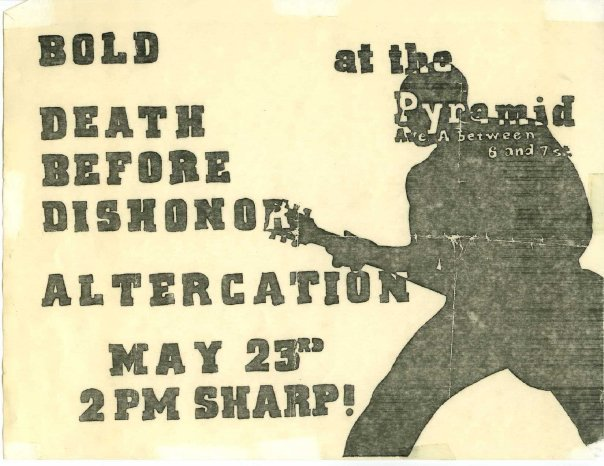 Bold-Death Before Dishonor-Altercation @ New York City NY 5-23-87