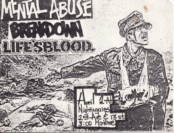 Mental Abuse-Breakdown-Life's Blood @ New York City NY 4-2-88
