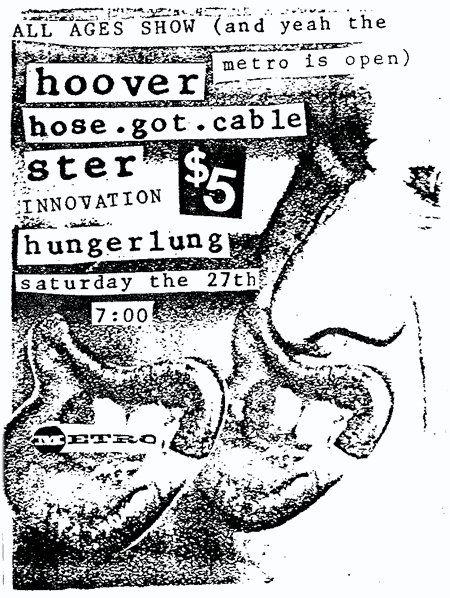 Hoover-Hose Got Cable-Ster-Innovation-Hungerlung @ Richmond VA UNKNOWN DATE