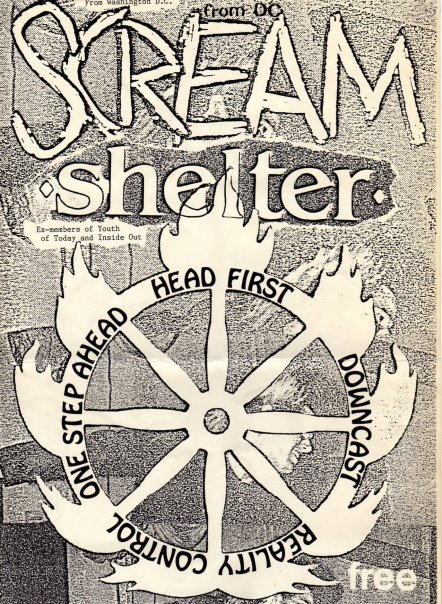 Scream-Shelter-Head First-Downcast-Reality Control-One Step Ahead @ Santa Barbara CA 8-26-90