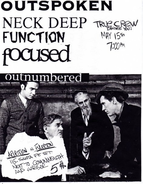 Outspoken-Neck Deep-Function-Focused-Outnumbered @ Fullerton CA 5-15-UNKNOWN YEAR