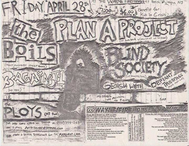 The Boils-Plan A Project-Three Against One-Blind Society-Defiant Trespass-The Ploys @ Wayne NJ 4-28-00