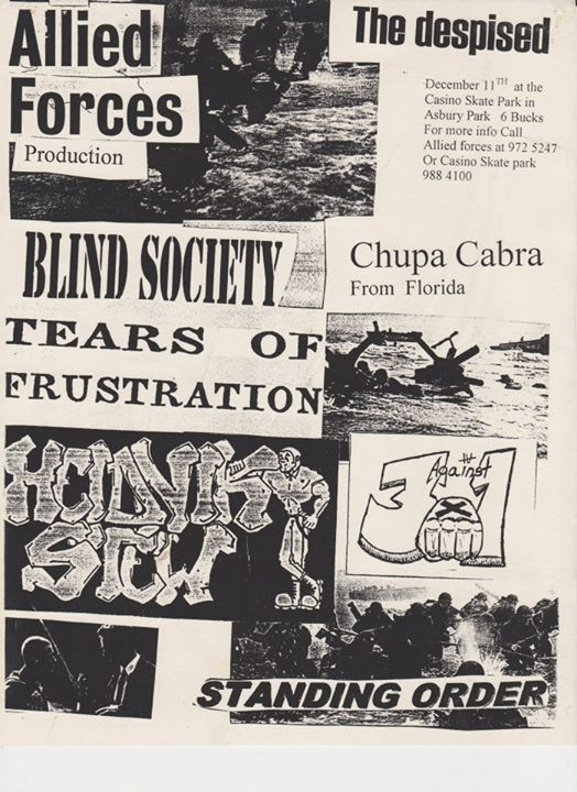 The Despised-Blind Society-Tears Of Frustration-Heidnik Stew-Three Against One-Standing Order @ Asbury Park NJ 12-11-99