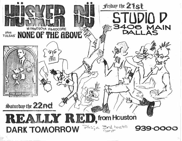 Husker Du-None Of The Above-Really Red-Dark Tomorrow @ Dallas TX 12-21-82