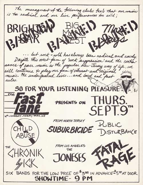 Child Abuse-Suburbicide-Public Disturbance-Chronic Sick-The Joneses-Fatal Rage @ Asbury Park NJ 9-9-82