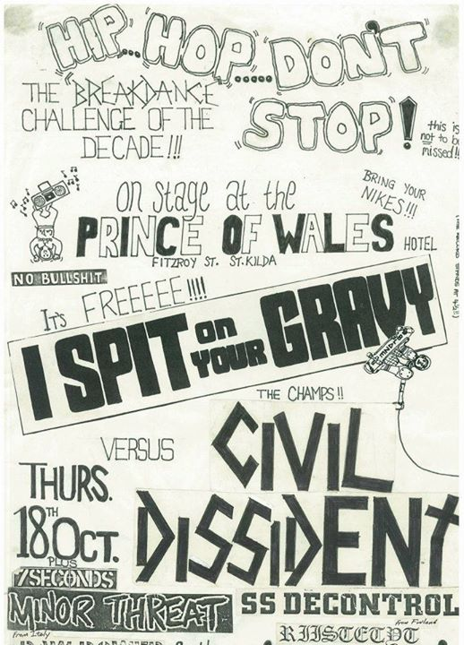 Civil Dissident-I Spit On Your Grave @ St. Kilda Australia 10-18-84