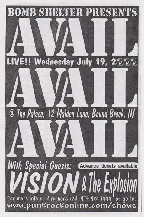 Avail-Vision-The Explosion @ Bound Brook NJ 7-19-00