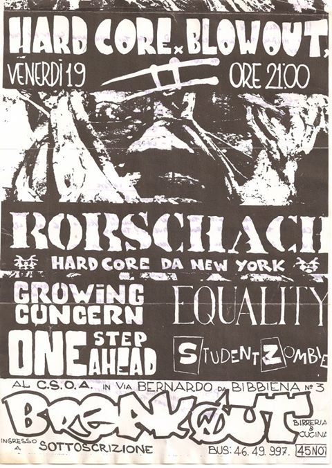 Rorschach-Growing Concern-Equality-One Step Ahead-Student Zombie @ UNKNOWN LOCATION/YEAR