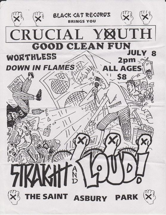 Crucial Youth-Good Clean Fun-Worthless-Down In Flames @ Asbury Park NJ 7-8-00