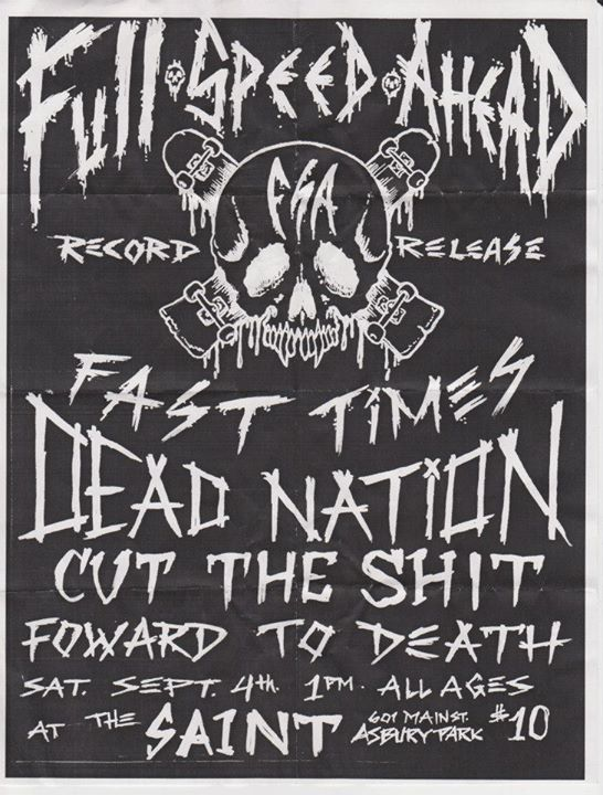 Full Speed Ahead-Fast Times-Dead Nation-Cut The Shit-Forward To Death @ Asbury Park NJ 9-4-04