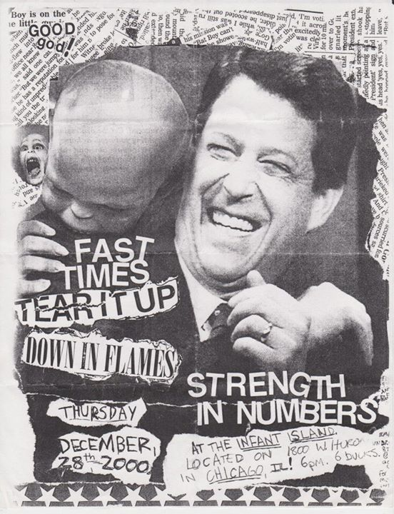 Fast Times-Tear It Up-Down In Flames-Strength In Numbers @ Chicago IL 12-28-00