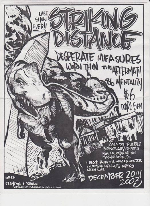 Striking Distance-Desperate Measures-Worn Thin-The Aftermath-86 Mentality @ Washington DC 12-20-03