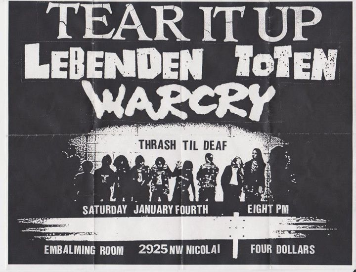 Tear It Up-Lebenden Toten- War Cry @ Portland OR 1-4-03