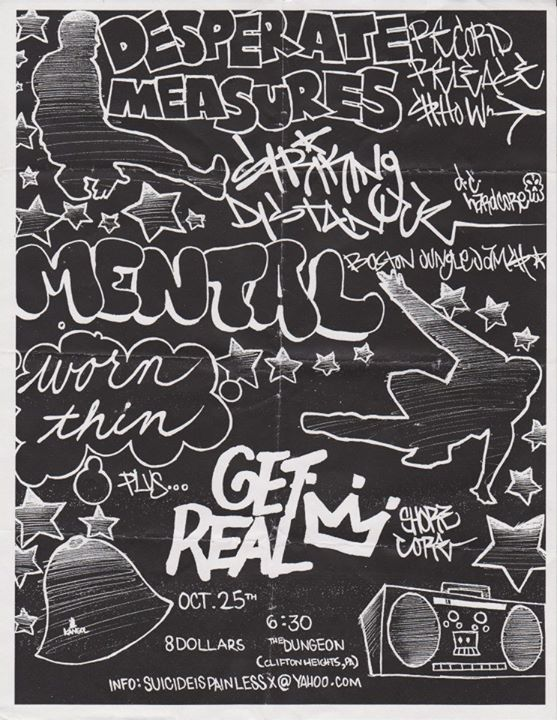 Desperate Measures-Striking Distance-Mental-Worn Thin-Get Real @ Clifton Heights PA 10-25-03