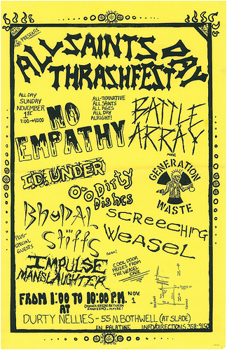 No Empathy-Battle Array-Screeching Weasel-Generation Waste-Impulse Manslaughter @ Palatine IL 11-1-87