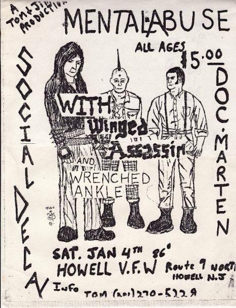 Social Decay-Mental Abuse-Doc Marten @ Howell NJ 1-4-83