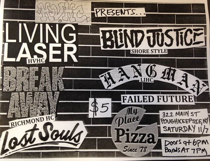 Living Laser-Break Away-Lost Souls-Blind Justice-Hangman-Failed Future @ Poughkeepsie NY 11-7-15