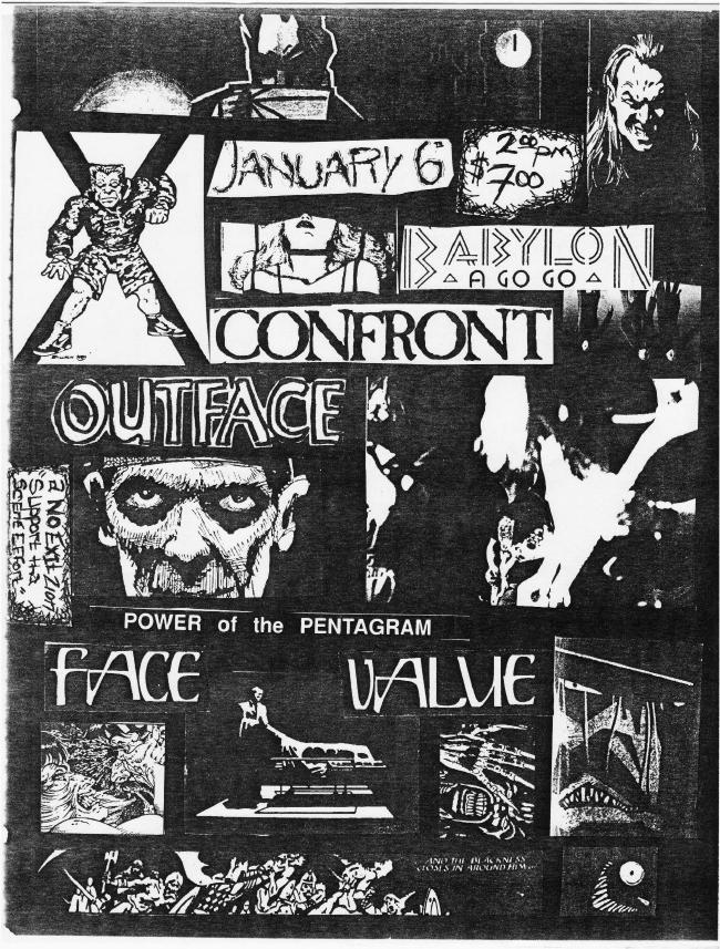 Confront-Outface-Face Value @ Cleveland OH 1-6-89