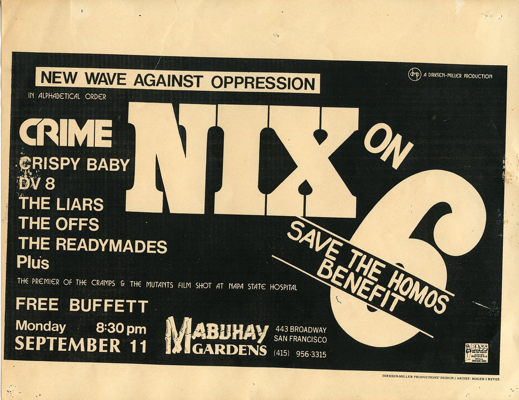 Save The Homos Benefit 1978
