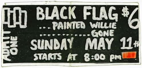 Black Flag-Painted Willie-Gone @ Fayatteville AR 5-11-86