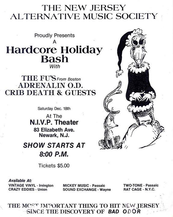 The FU's-Adrenalin OD-Crib Death @ Newark NJ 12-18-82
