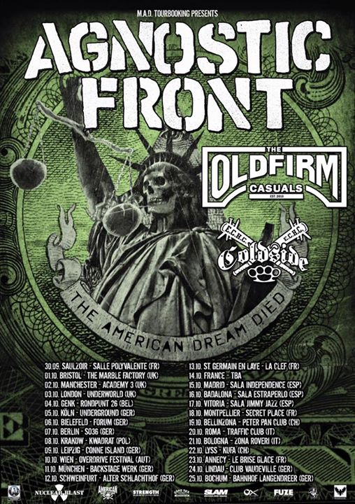 Agnostic Front-Old Firm Casuals Tour 2015