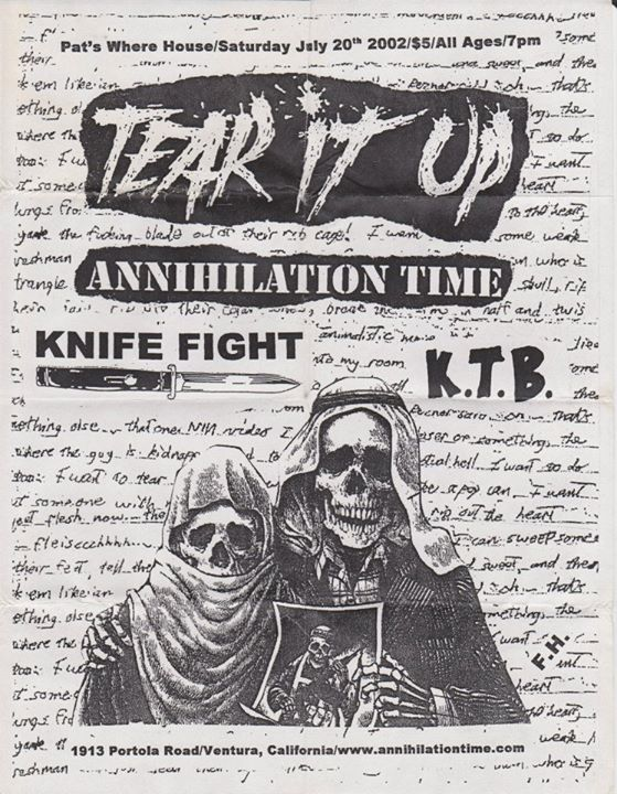 Tear It Up-Annihilation Time-Knife Fight-KTB @ Ventura CA 7-20-02