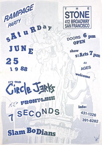 Circle Jerks-Frontline-7 Seconds-Slambodians @ San Francisco CA 6-25-88