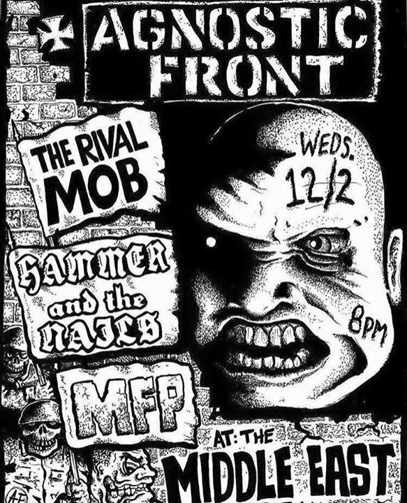 Agnostic Front-The Rival Mob-Hammer & The Nails-MFP @ Boston MA 12-2-15