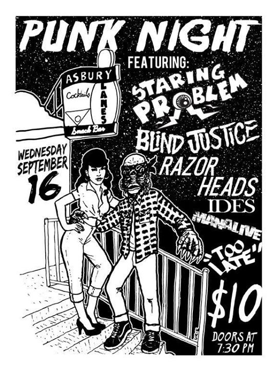 Staring Problem-Blind Justice-Razor Heads-Ides-Manalive @ Asbury Park NJ 9-16-15