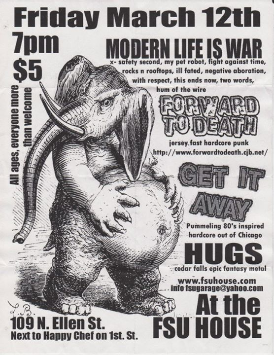 Modern Life Is War-Forward To Death-Get It Away-Hugs @ Chicago IL 3-12-04