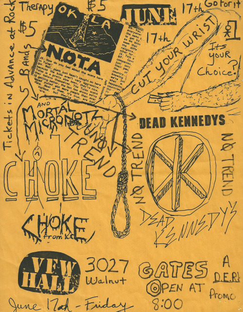 Dead Kennedys-No Trend-None Of The Above-Mortal Micronotz @ Kansas City MO 6-17-83