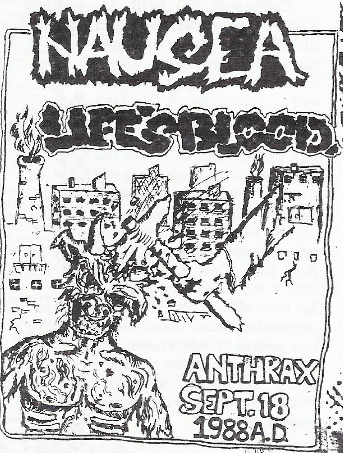 Nausea-Life's Blood @ Norwalk CT 9-18-88
