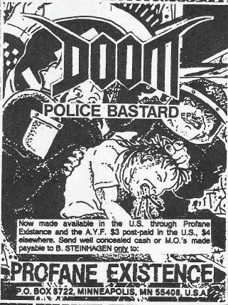 Doom-Police Bastard (Profane Existence Records)