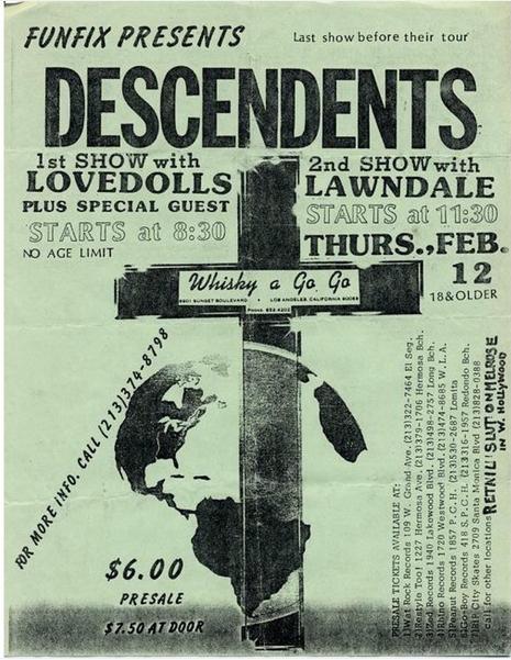 Descendents-Lovedolls-Lawndale @ Los Angeles CA 2-12-87
