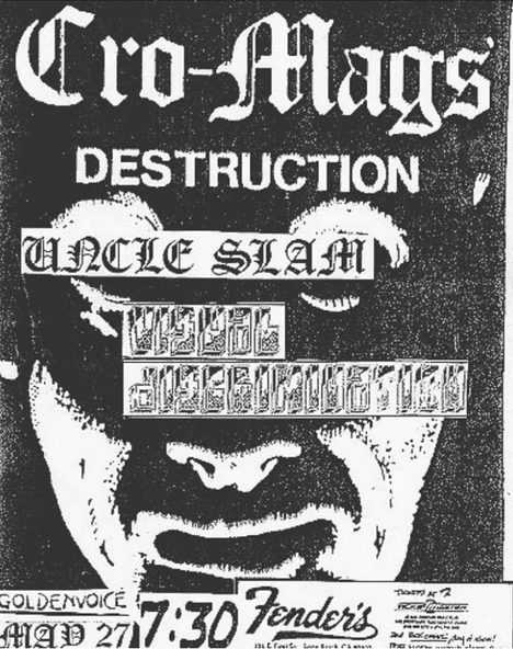 Cro Mags-Destruction-Uncle Slam-Visual Discrimination @ Long Beach CA 5-27-87