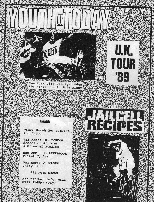 Youth Of Today UK Tour 1989
