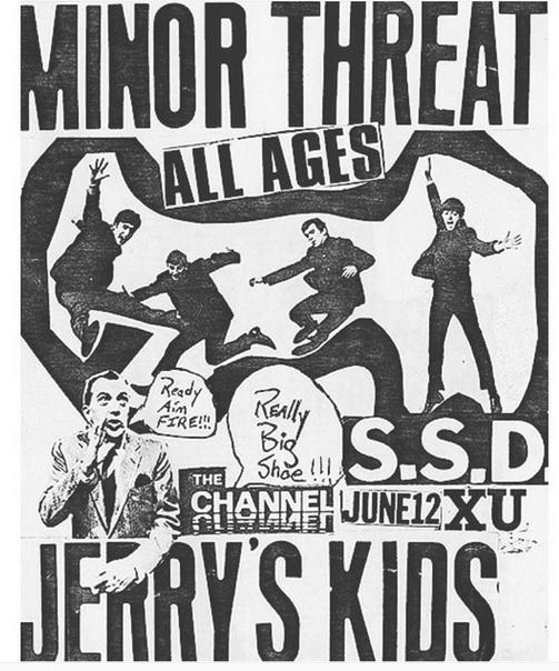 Minor Threat-Society System DeControl-Jerry's Kids @ Boston MA 6-12-83