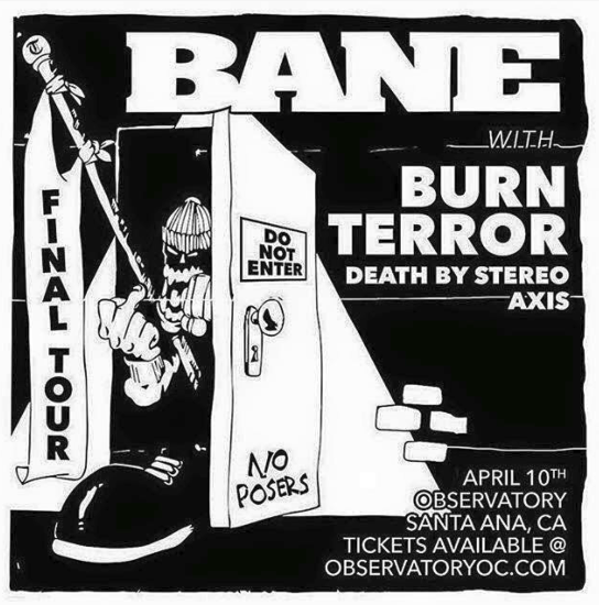 Bane-Burn-Terror-Death By Stereo-Axis @ Santa Ana CA 4-10-16