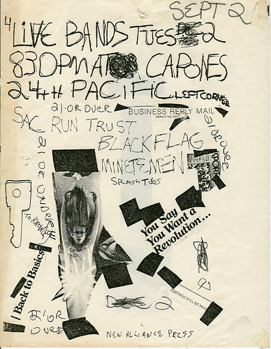 Saccharine Trust-Black Flag-Minutemen @ Los Angeles CA 9-2-80
