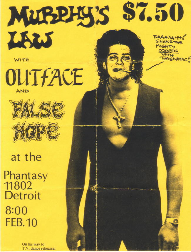 Murphy's Law-Outface-False Hope @ Cleveland OH 2-10-89