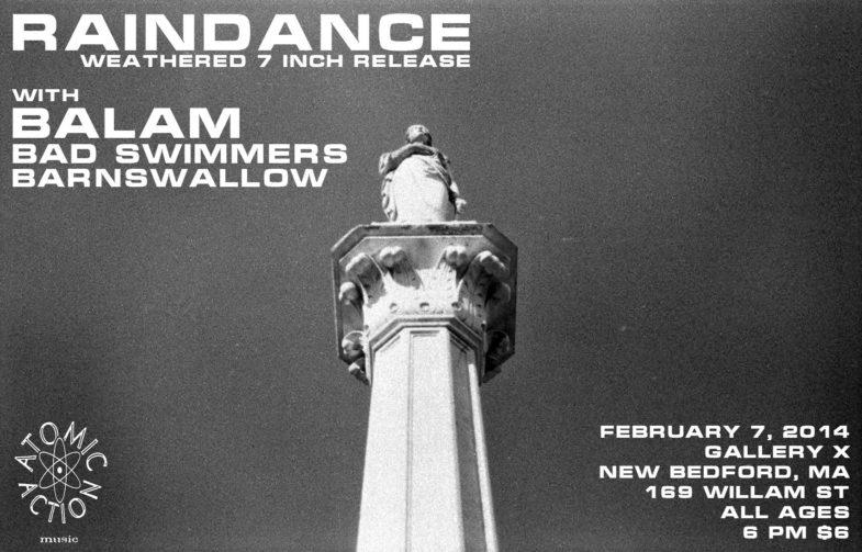 Rain Dance-Balam-Bad Swimmers-Barnswallow @ New Bedford MA 2-7-14