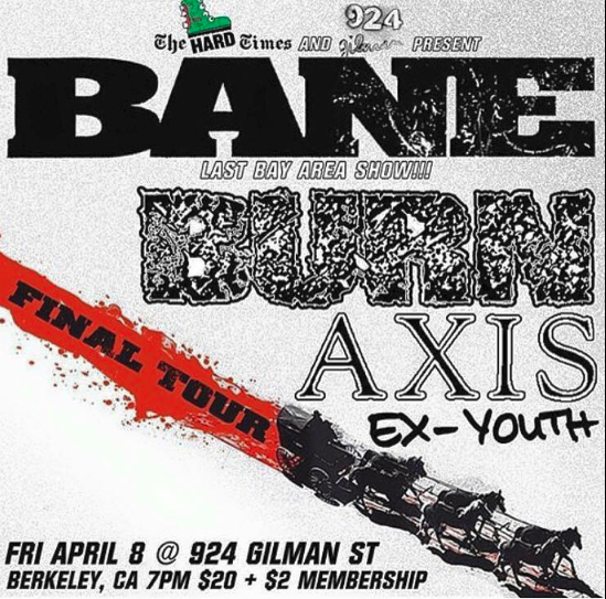 Bane-Burn-Axis @ Berkeley CA 4-8-16