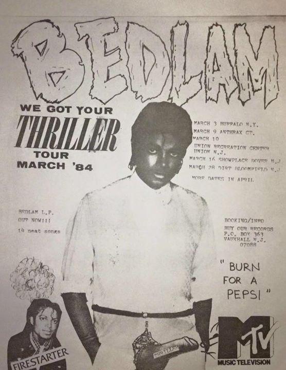 Bedlam Tour March 1984