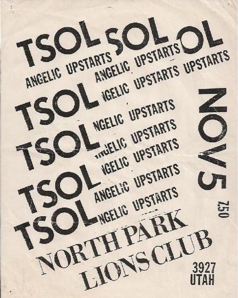 Angelic Upstarts-TSOL @ San Diego CA 11-5-??